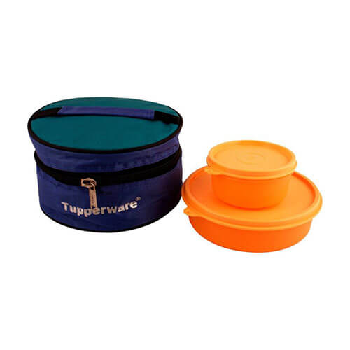 Tupperware Lunch Box 2 Containers Lunch Box  (730 ml)