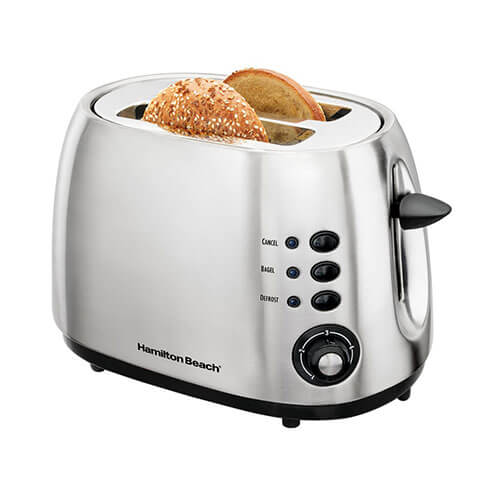 Hamilton Beach 22504 IN 2 Slice Pop Up Toaster Silver & Black