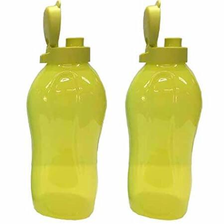 Tupperware - 2 litres water bottles fliptop Green Color