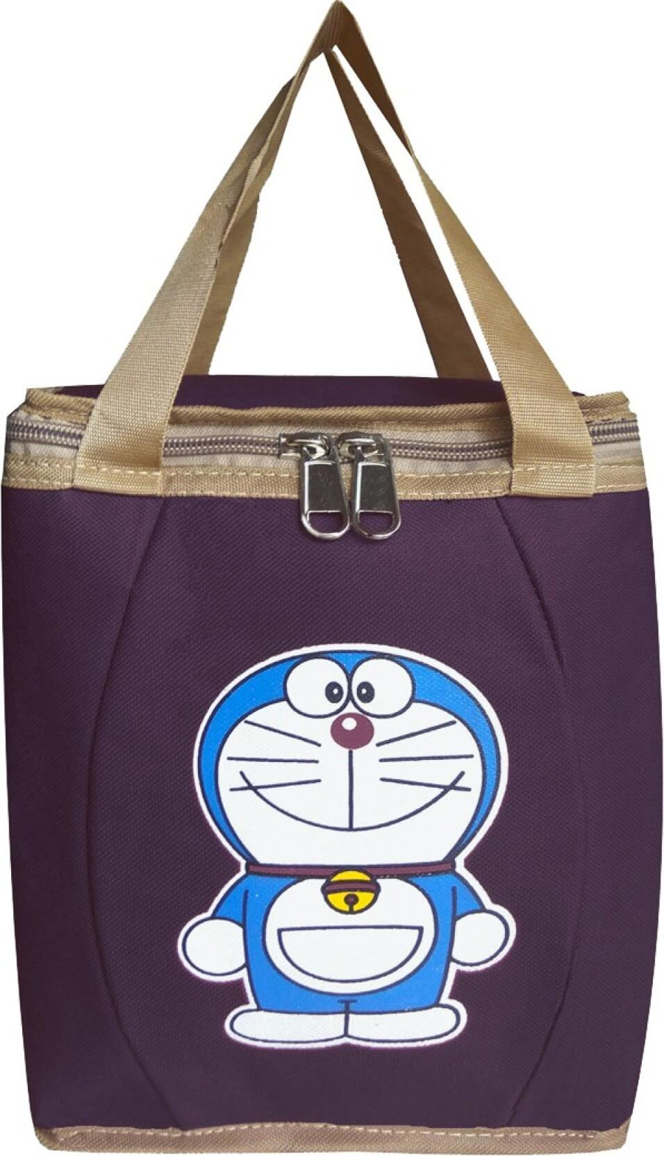 Right Choice Lunch Bag  (Doremon, Purple, 10 inch)