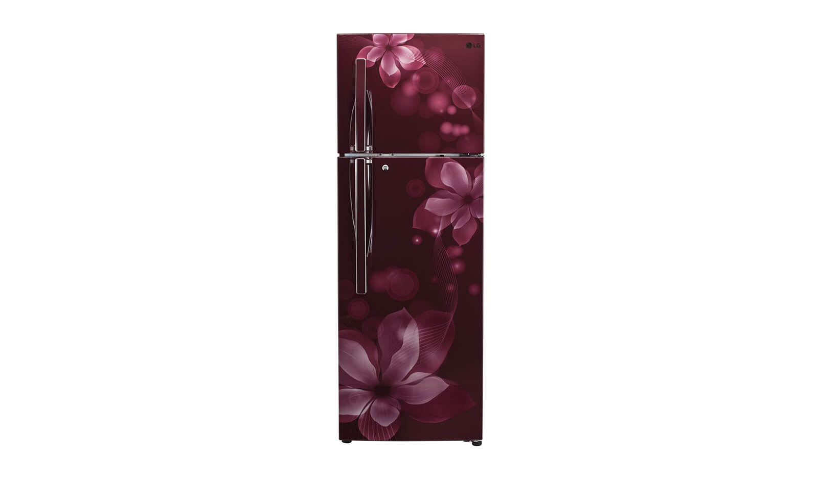LG 260 L 3 Star Frost-Free Double-Door Refrigerator (GL-T292RSOU, Scarlet Orchid)