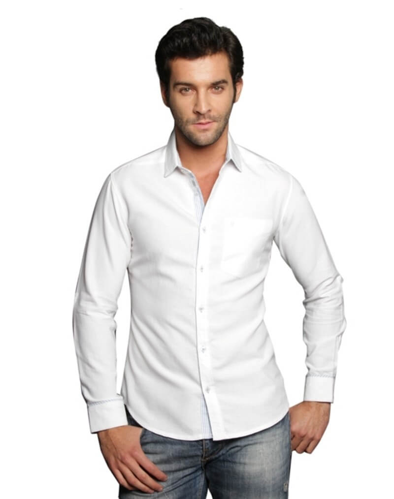 Xny Brand Cotton Solid Shirt
