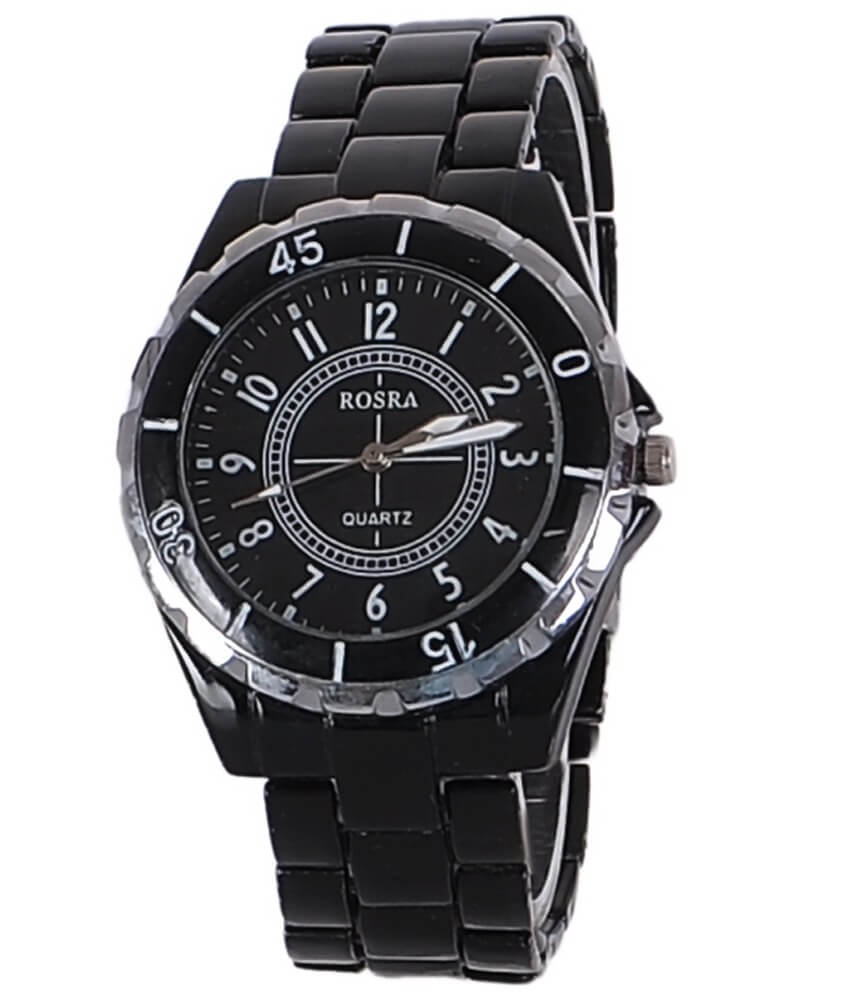 Rosra Black Steel Analog Watch
