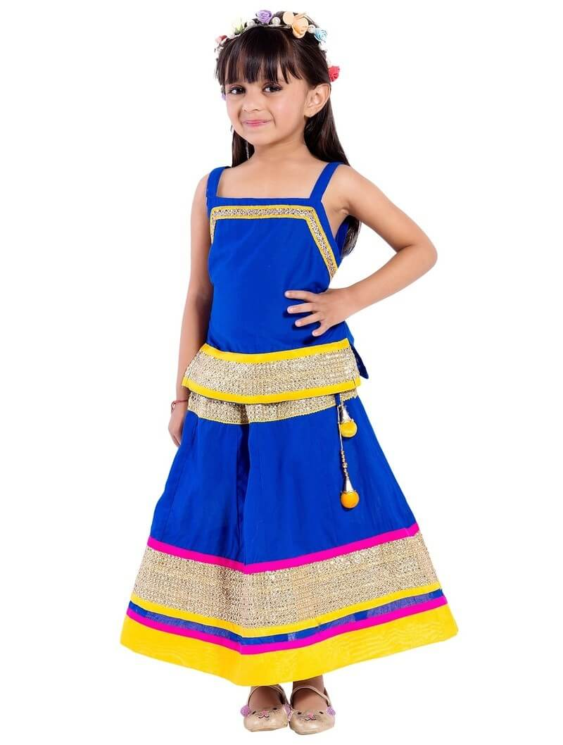 Cotton Printed Kids Lehenga Choli (3-4yrs)
