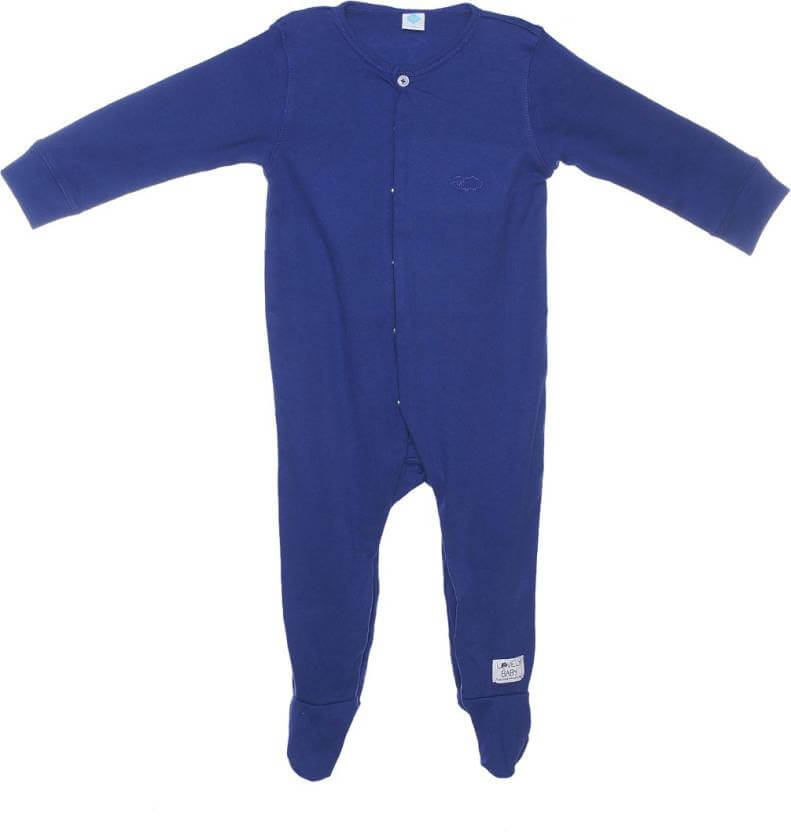 Indirang Baby Boys & Baby Girls Blue Sleepsuit