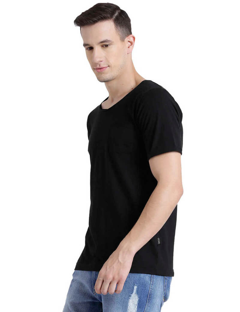 Rigo Brand Cotton Solid Men T-Shirt