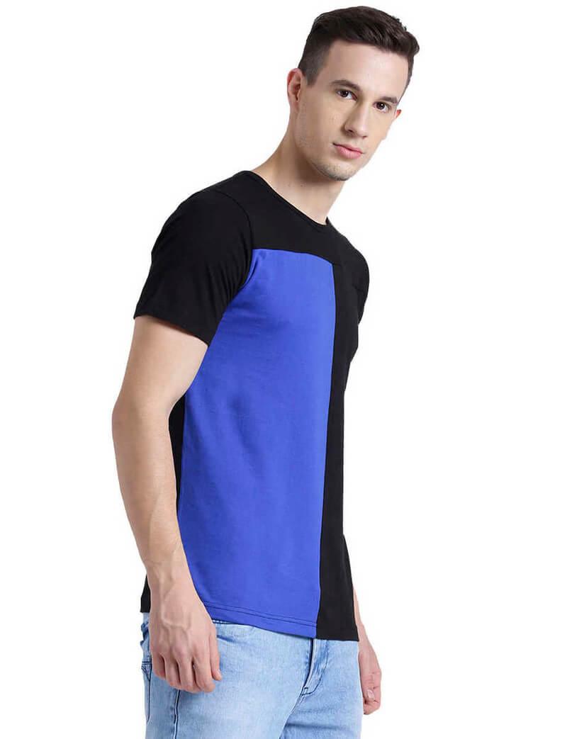 Cotton Solid Men T-Shirt (Size 36)