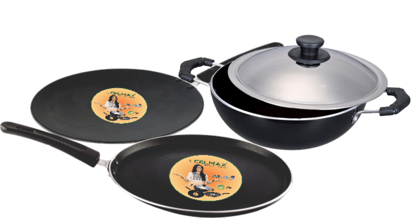 Celmax Non Stick Cookware set 3-Pieces