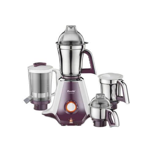 Preethi Taurus MGA 217 750-Watt Mixer Grinder with 4 Jars White/Dark Violet