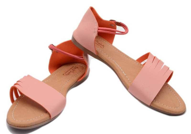 Synthetic Leather Women Flats