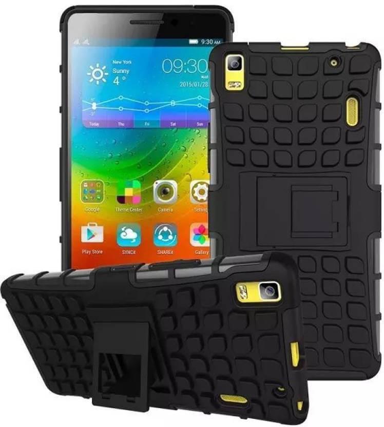 Nutricase Back Cover for Lenovo K3 Note (Black, Shock Proof, Rubber)