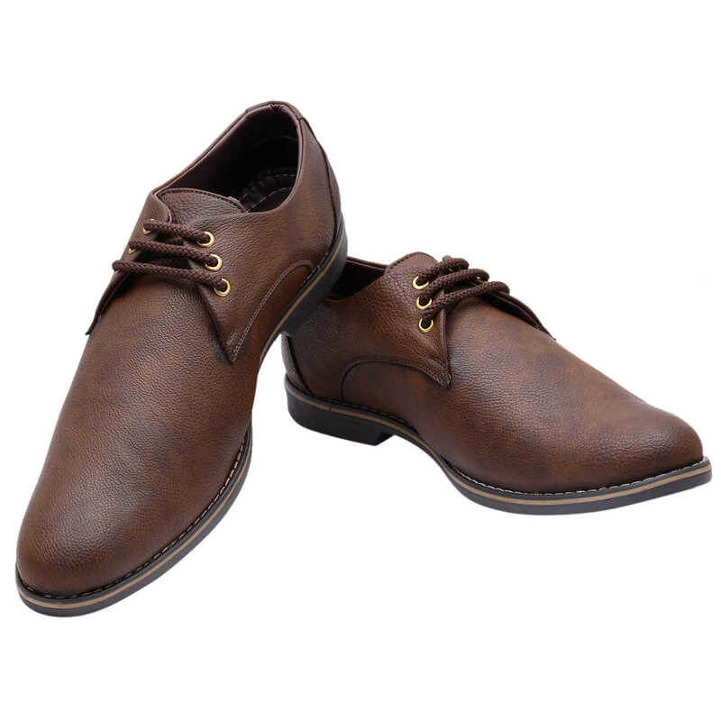 Firemark Brand Faux Leather Tpr Men Formal Shoes
