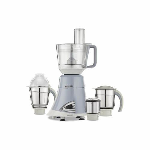 Preethi Titanium 750-Watt Mixer Grinder Light Grey/White