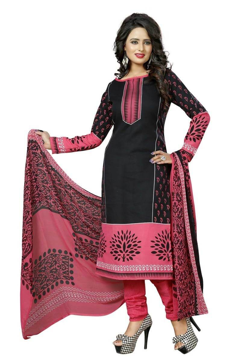 Cotton Digital Printed Unstitched Suit Set