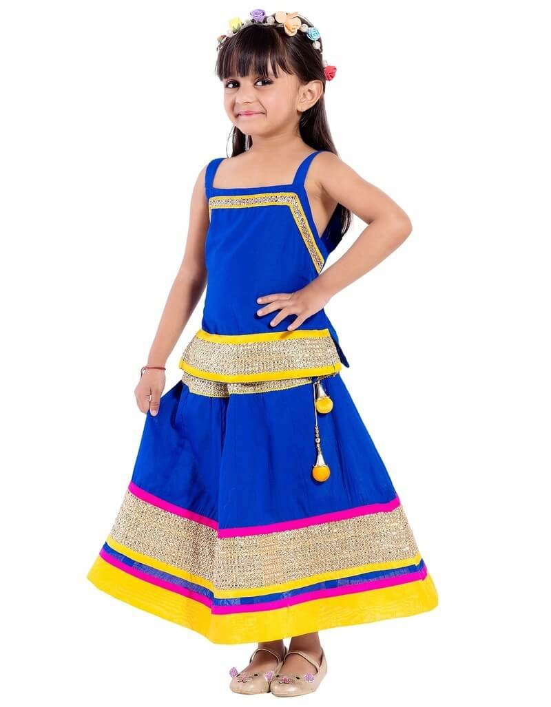 Cotton Printed Kids Lehenga Choli