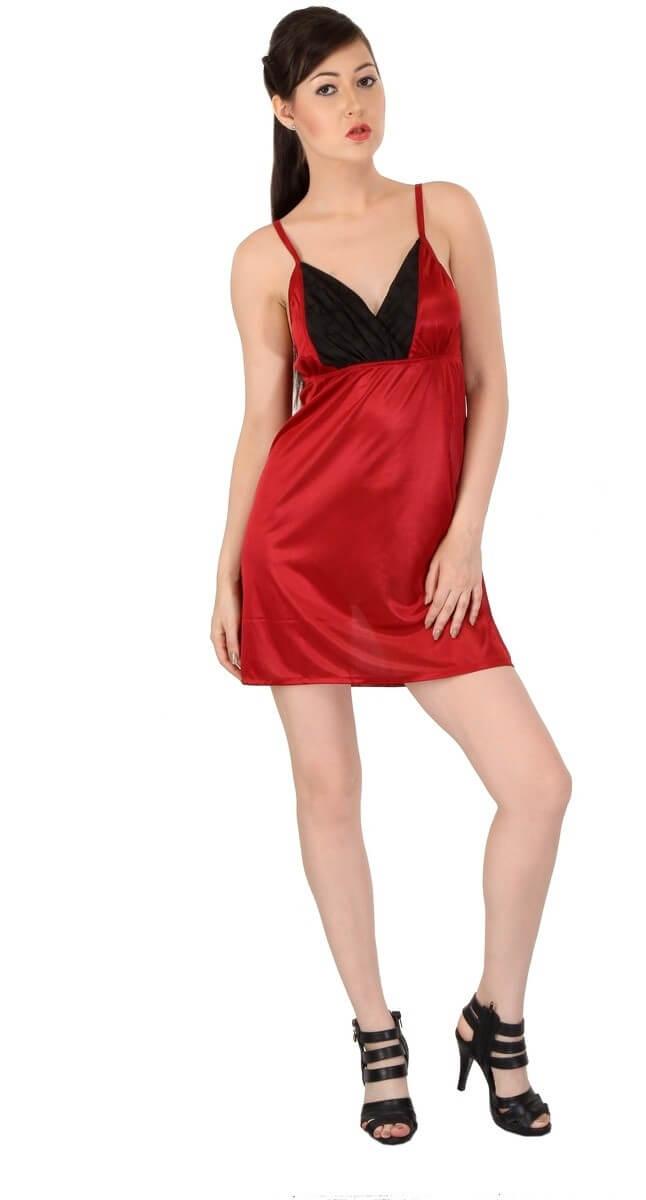 Satin Lycra Women Nightwear
