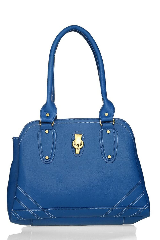 LADY QUEEN Blue Faux Leather Shoulder Bag LD - 375