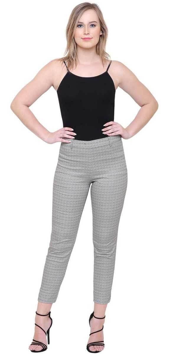 Poly Cotton Printed Women Trouser