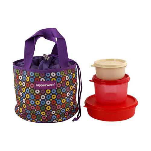 Tupperware Tup 807 3 Containers Lunch Box  (1150 ml)