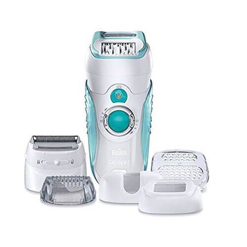 Braun Silk-epil 7 Dual Epilator 7-751 WD Epilator For Women (White)