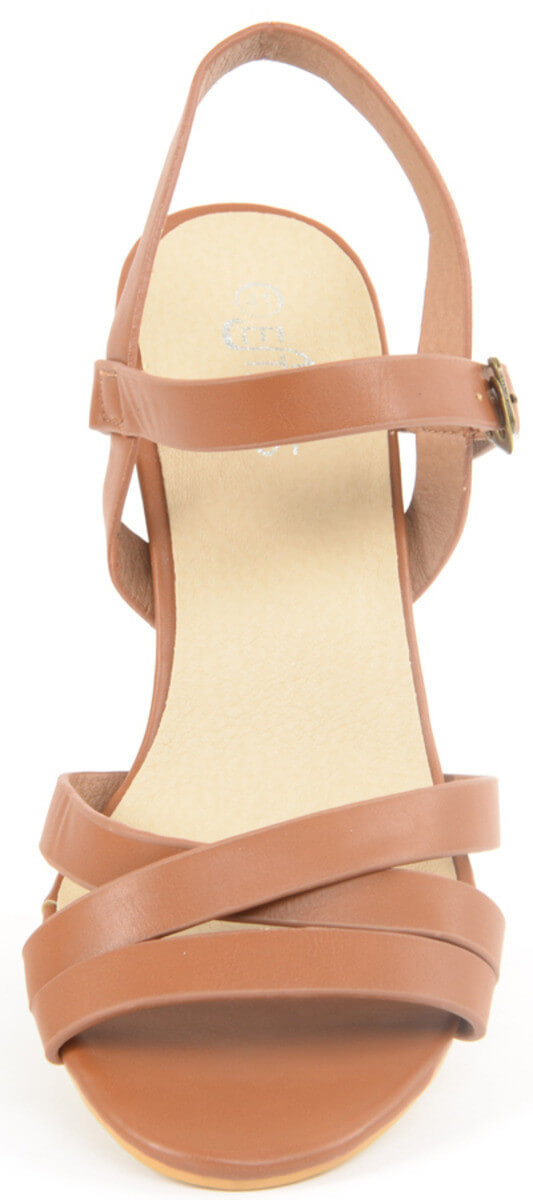 Estatos Brand Leather Pu Women Heel