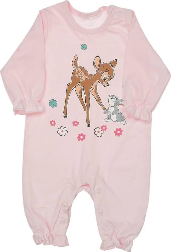 Indirang Baby Girls Pink Bodysuit