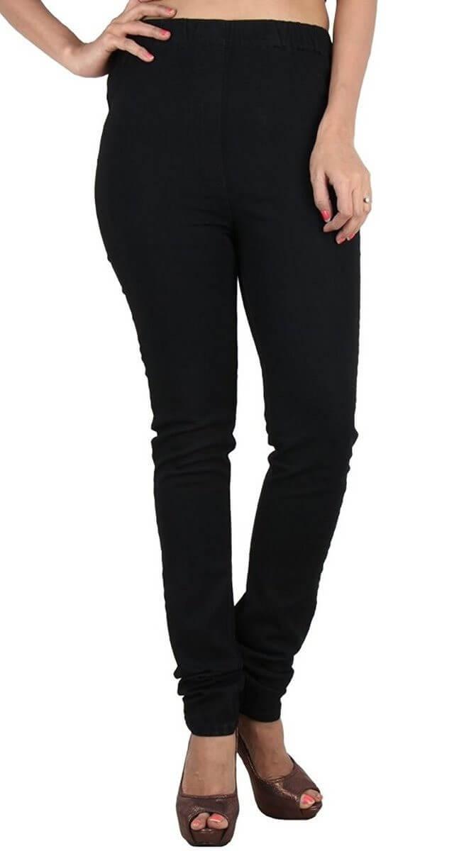Cotton Spandex Solid leggings