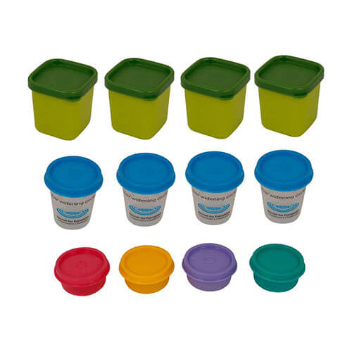Tupperware - 80 ml, 60 ml, 30 ml Plastic Multi-purpose Storage Container  (Pack of 12, Multicolor)