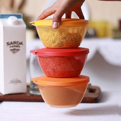Tupperware Click bowl, Set of 3