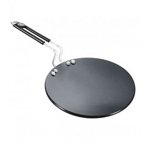 Prestige Hard Anodized Aluminum Chapati Tawa, 245 mm, Black