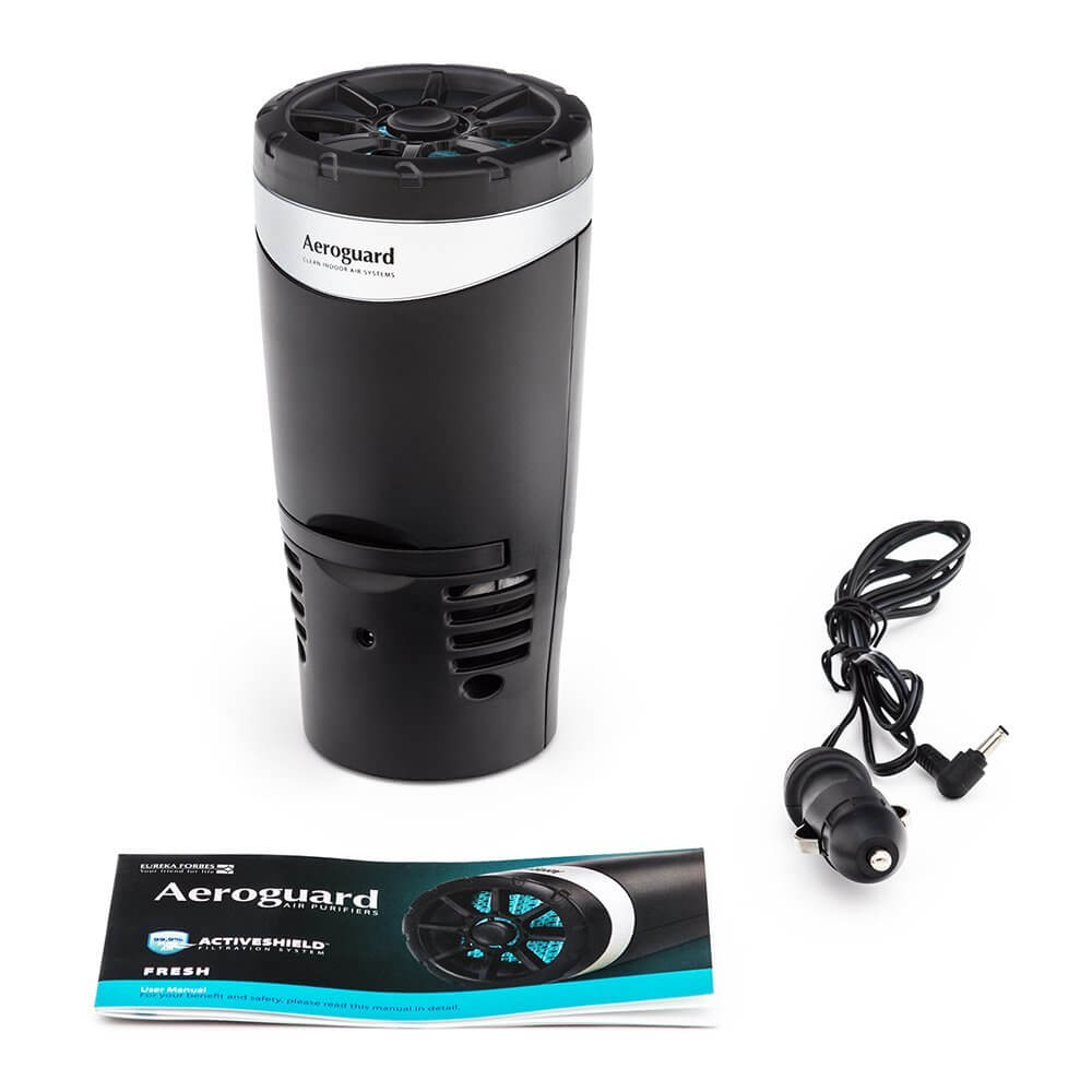 Eureka Forbes Aeroguard Fresh Car Air Purifier Black