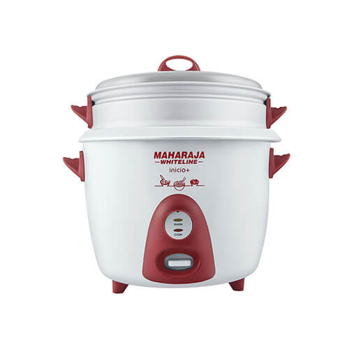 Maharaja Whiteline Inicio Plus 700-Watt Multi Cooker Red and White