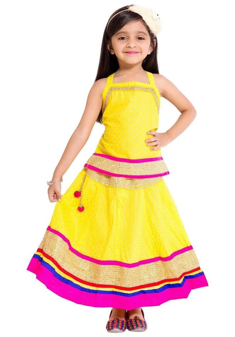 Cotton Embroidery Girls Lehenga Choli