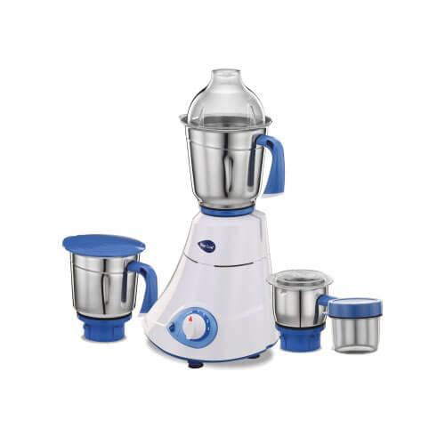 Preethi Blue Leaf Silver 600-Watt Mixer Grinder