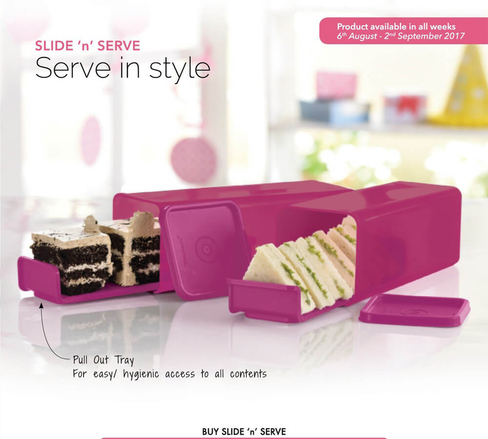 Tupperware Slide 'n' Serve