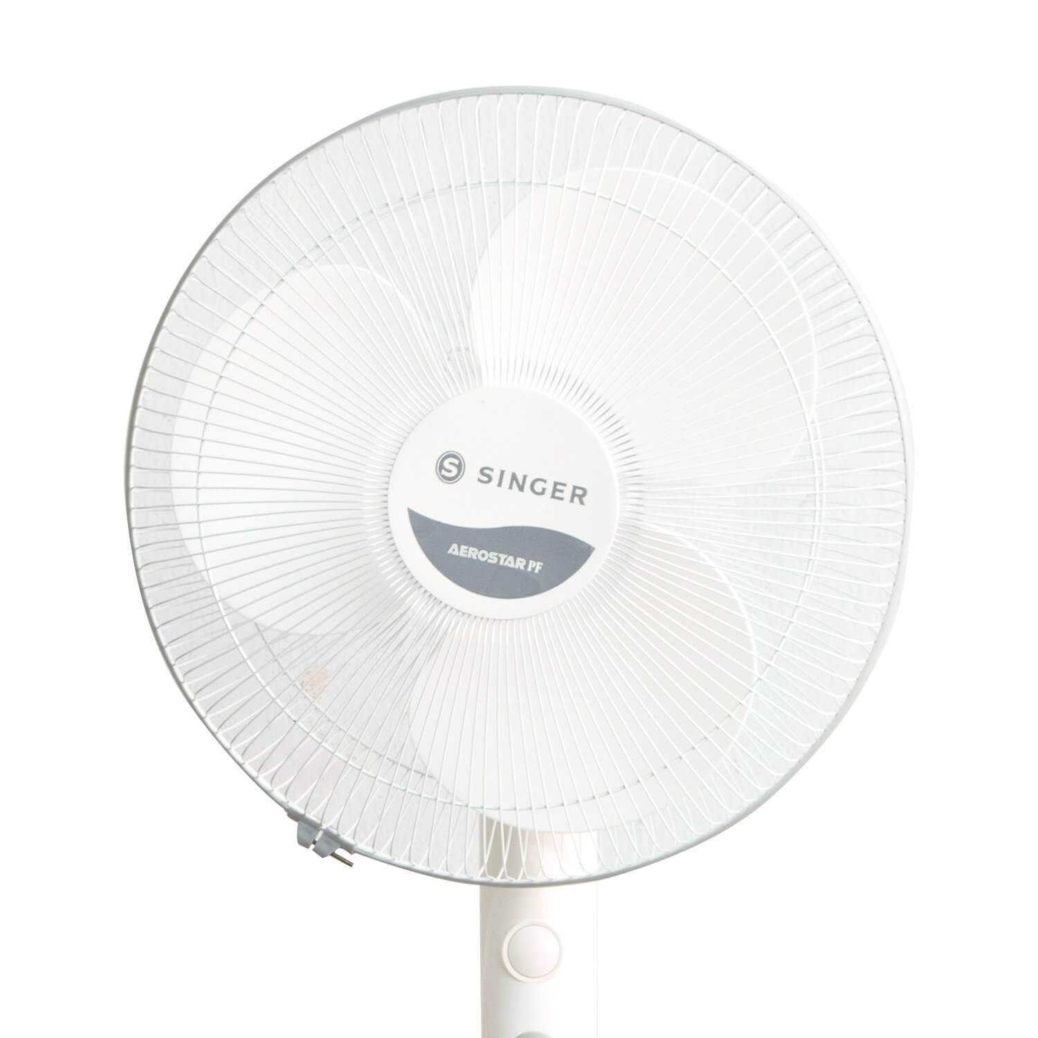 Singer 60 W, 400 MM Pedestal FAN Aerostar PF (White & Grey)