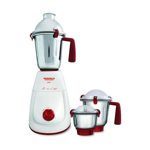 Maharaja Whiteline Joy+ MX-132 600-Watt 3 Speed Mixer Grinder with 3 Jar Red/White