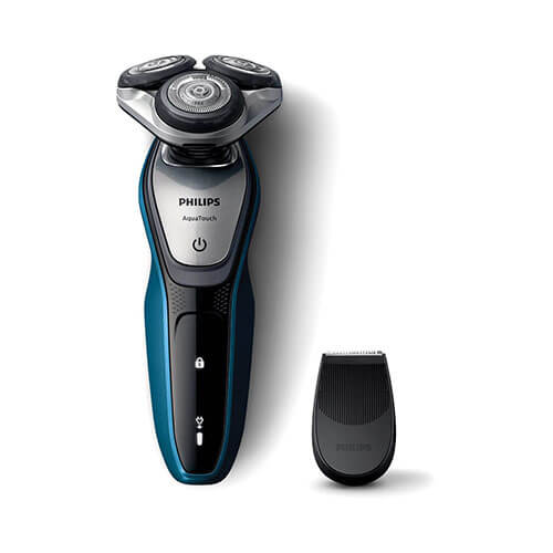 Philips S5420/06 Aqua Touch Electric Shaver For Men Black & Blue