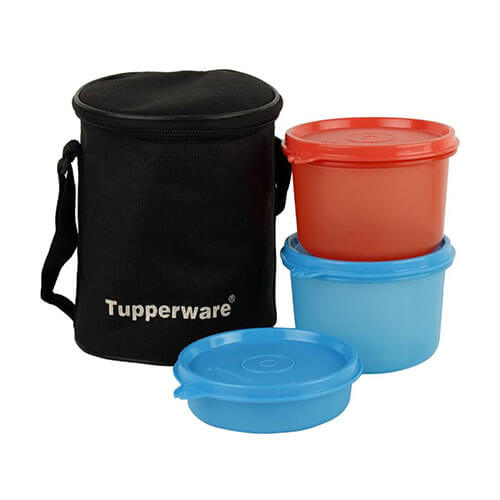Tupperware Lunch Box 3 Containers Lunch Box  (1070 ml)
