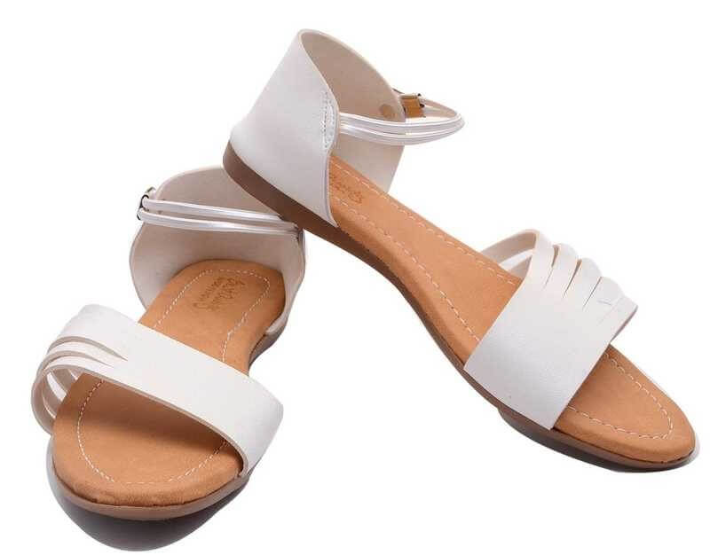 Synthetic Leather Tpr Women Flats