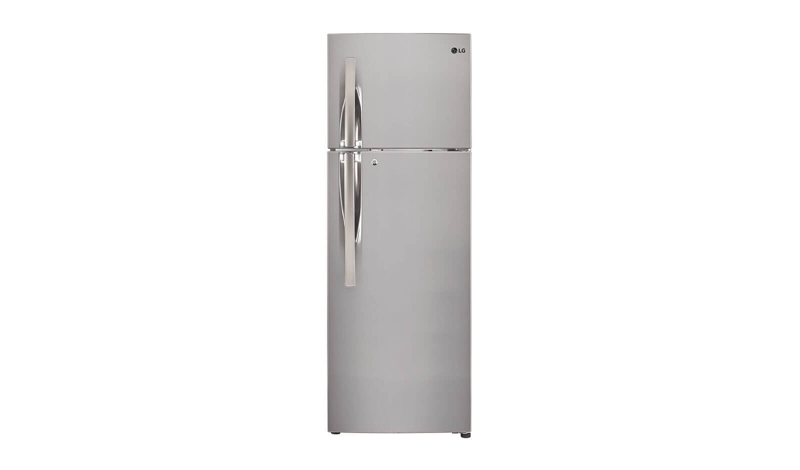 LG 284 L 4 Star Frost-Free Double-Door Refrigerator (GL-T302RPZN, Shiny Steel)