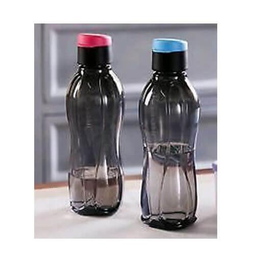 Tupperware aquasafe Fliptop Water Bottle Black pink/blue -250 ml (2pcs)