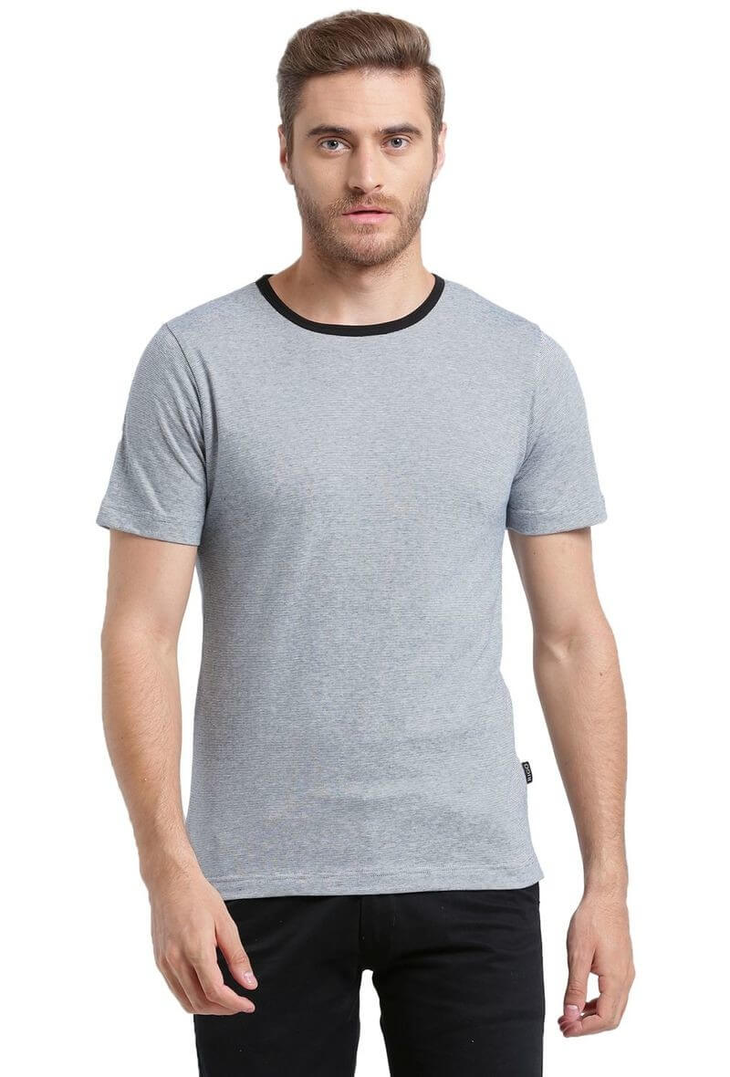 Rigo Brand Cotton Solid Men T-Shirt