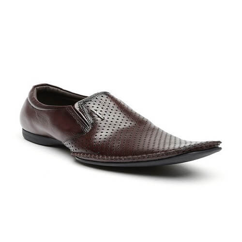 San Frissco Brand Leather Tpr Slip On Formal Shoes