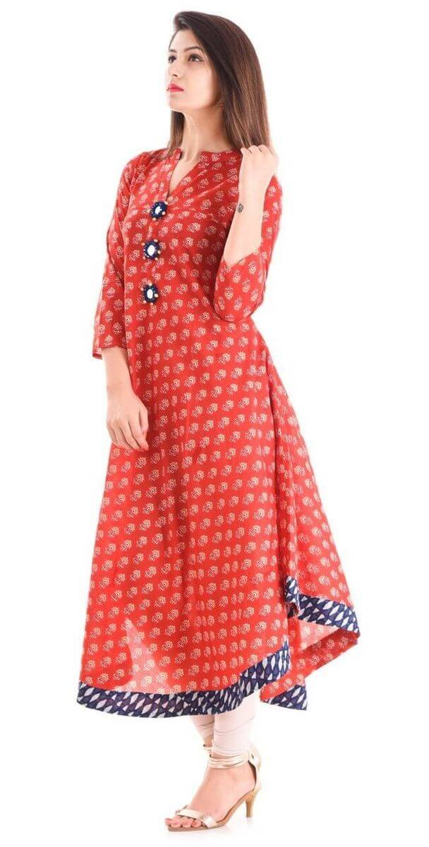 Cotton 60-60 Printed Anarkali Kurti (38)