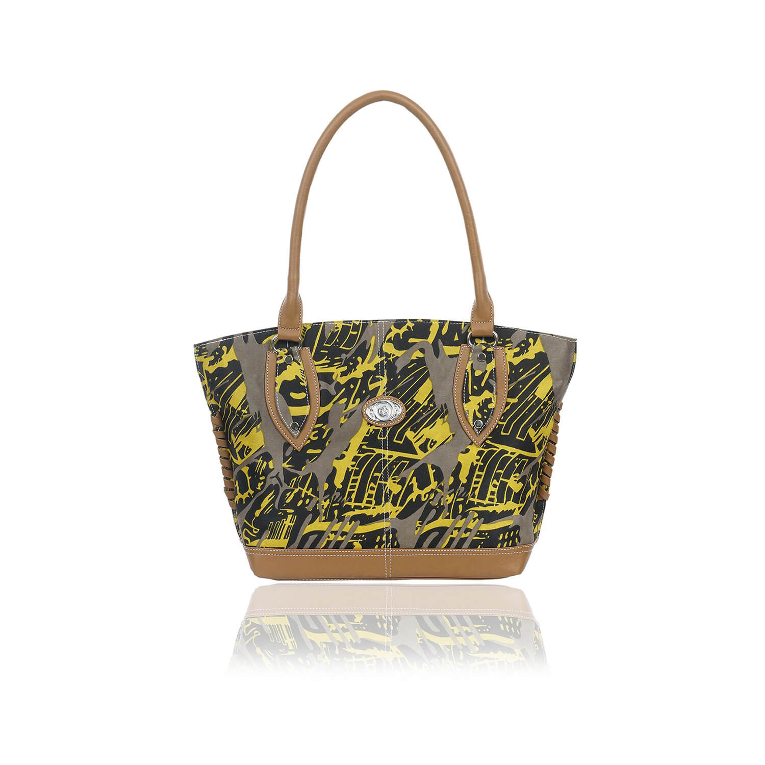 Right Choice RCH264 Yellow colour women's handbags  classic,smart bags