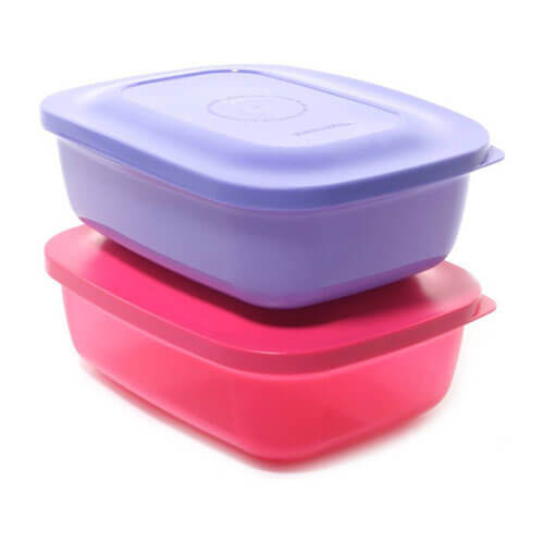 Tupperware 10117558 2 Containers Lunch Box  (500 ml)