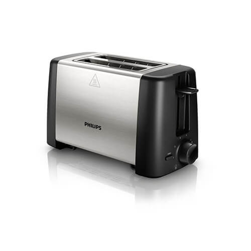 Philips HD4825 2 Slice Pop Up Toaster Black & Silver