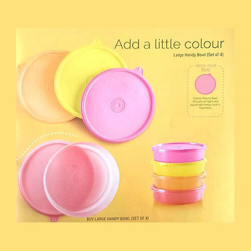 Tupperware Plastic Container Set, 500ml, Set of 4, Multicolour (TUP_B01BSVCQCY)