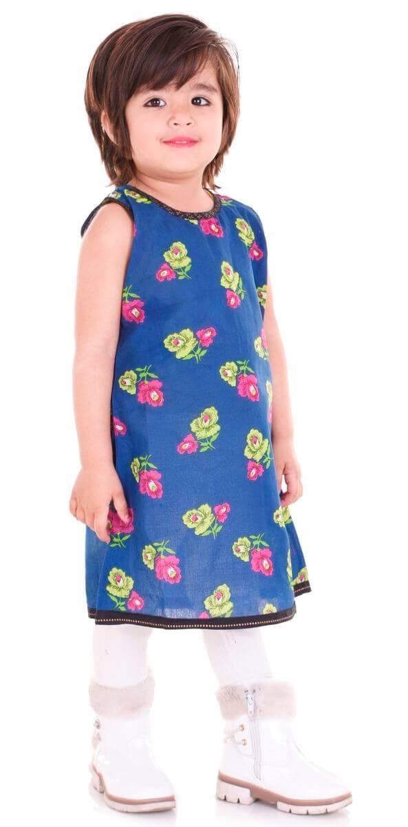 Cotton Printed Kids Dress (2)